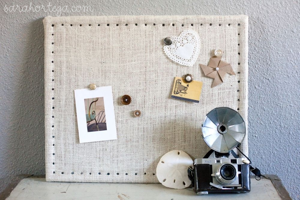 Diy burlap cork board for Diy cork board