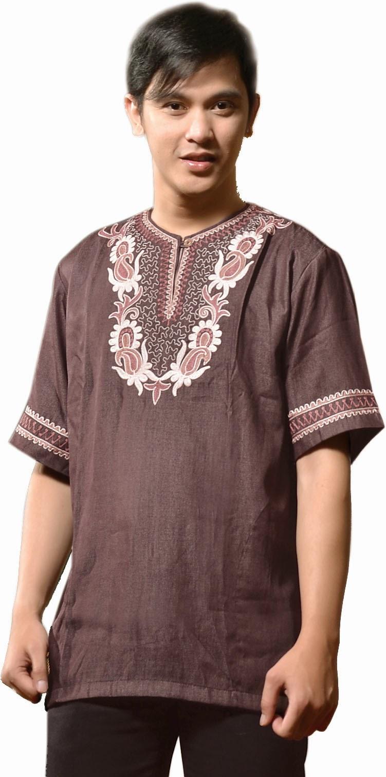 Model Baju Koko Muslim Pria Lengan Pendek