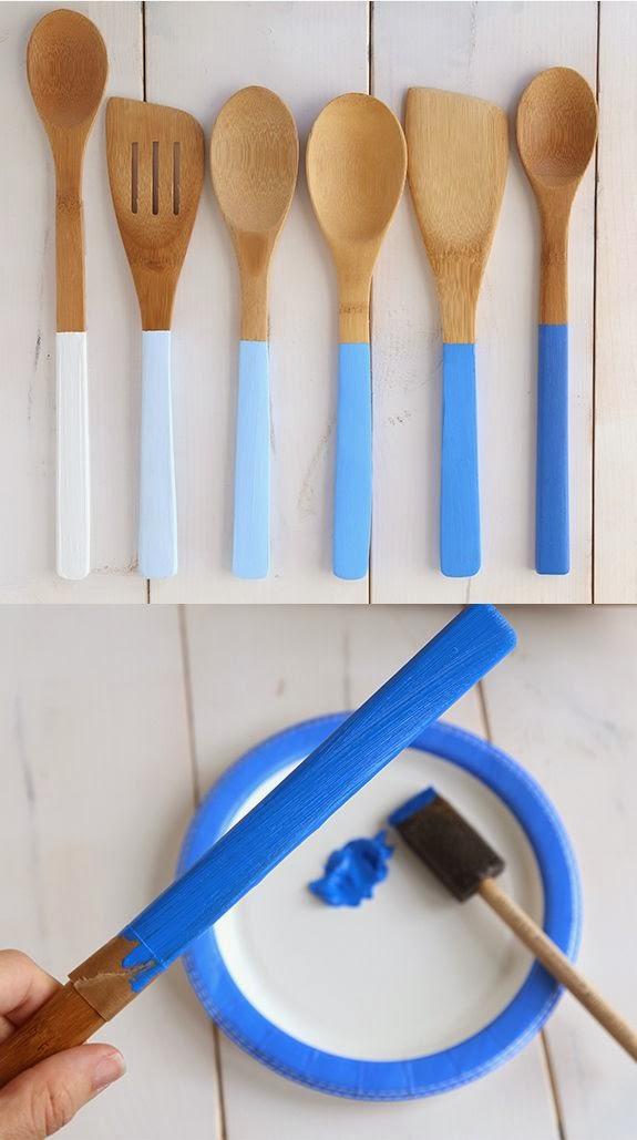 pintar cucharones y espatulas de cocina