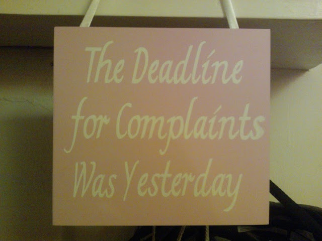 The Deadline For Complaints Was Yesterday