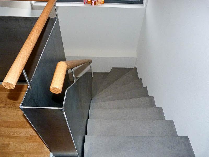 beton cire oberfl chen in beton look neue treppe mit beton cire. Black Bedroom Furniture Sets. Home Design Ideas