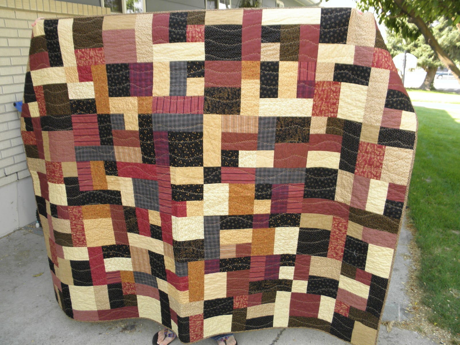 Free Quilt Pattern For Yellow Brick Road : YELLOW BRICK ROAD QUILT PATTERN FREE