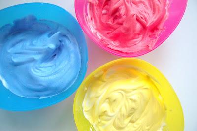 Shaving Foam Bath Paint RECIPE