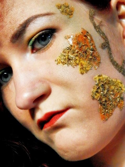 W temacie jedzenia...- makijaż spożywczy na konkurs u Malwiny