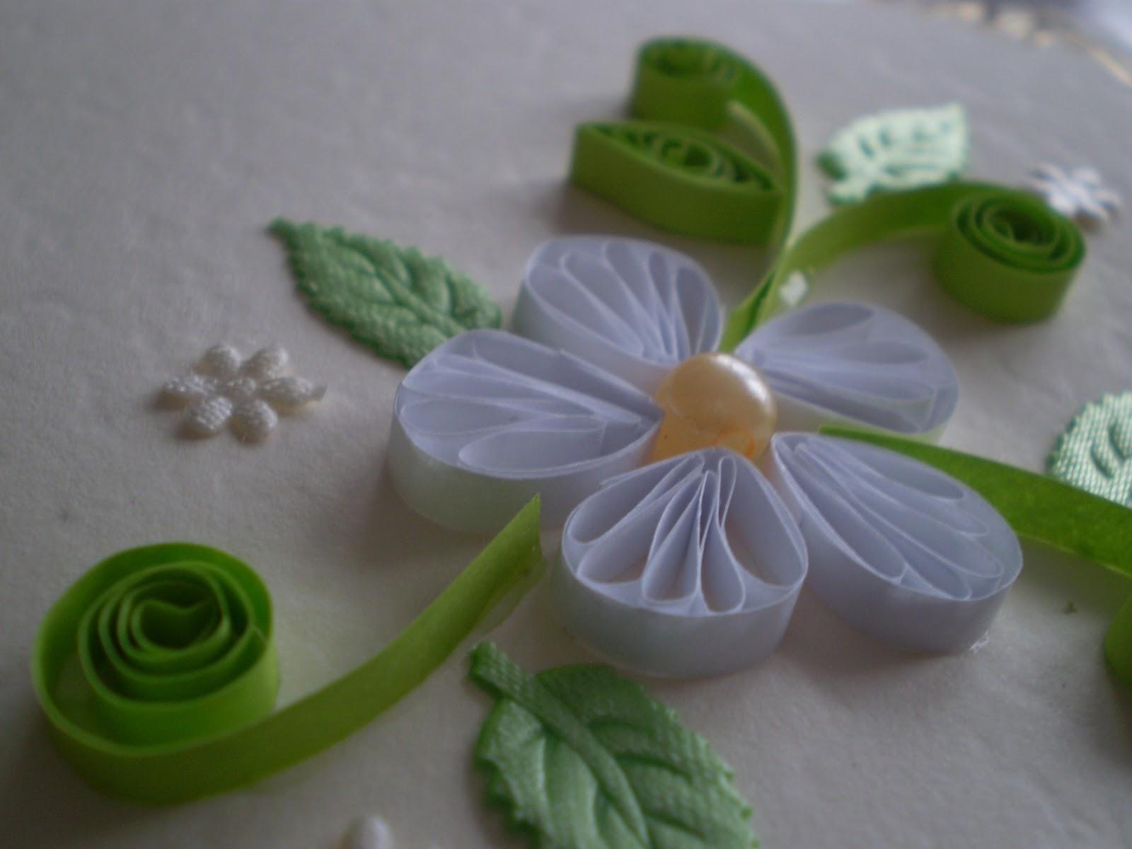 mariage fleur perle blanche arts crafts handmade artisanat rękodzieło zaproszenie invitation card carte kartka