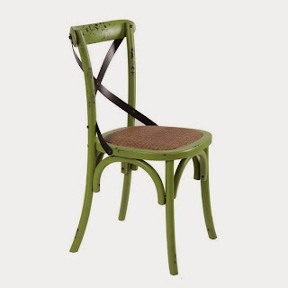 Silla cruces verde, silla salon, silla cocina, silla comedor