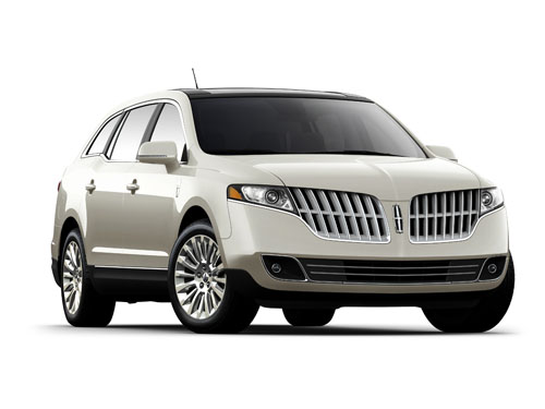 Front 3/4 view of silver 2012 Lincoln MKT