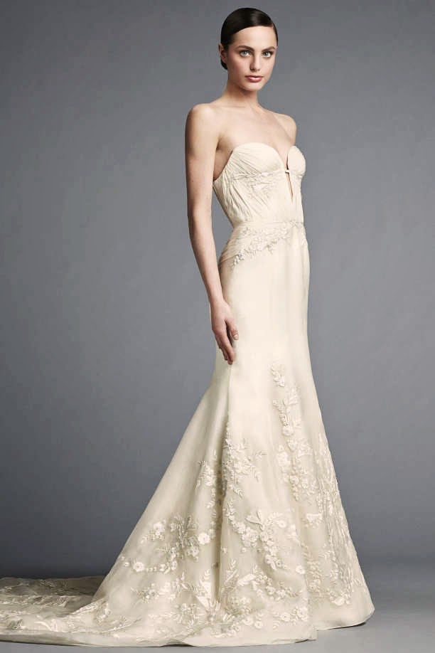 J mendel bridal spring 2015 lookbook my face hunter for J mendel wedding dress