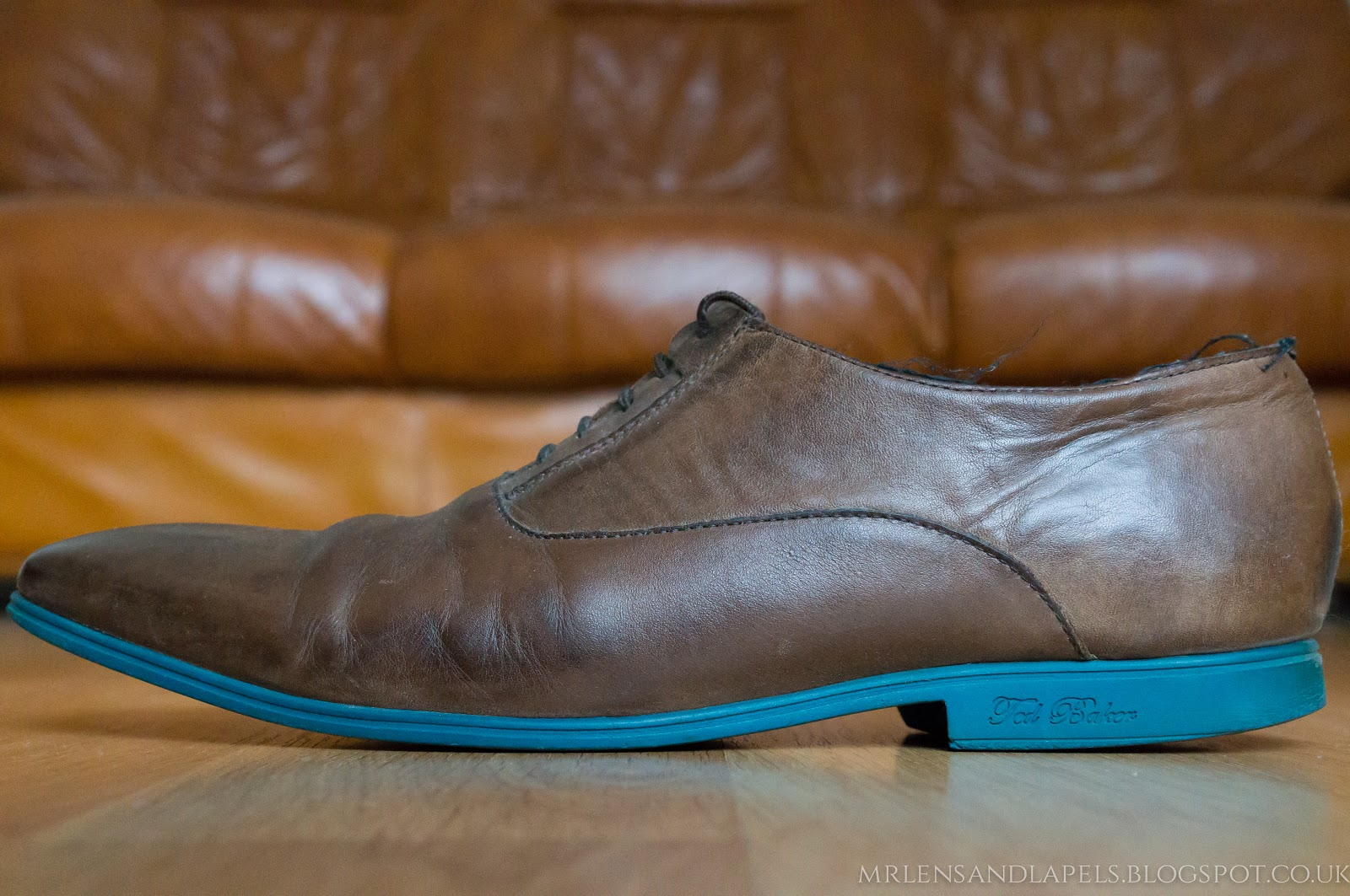 Ted Baker leather shoes blue sole