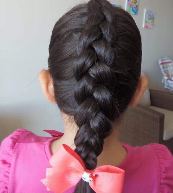 Dos Peinados De Niña Para La Escuela Super Sencillos Y Rapidos  - Peinados Para Ninas Para La Escuela