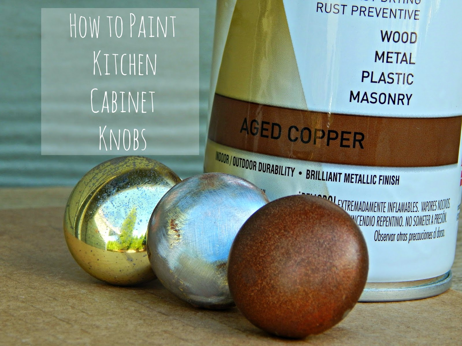 Easy Kitchen Update: How To Pain Cabinet Knobs With Rust Oleum Universal Spray  Paint