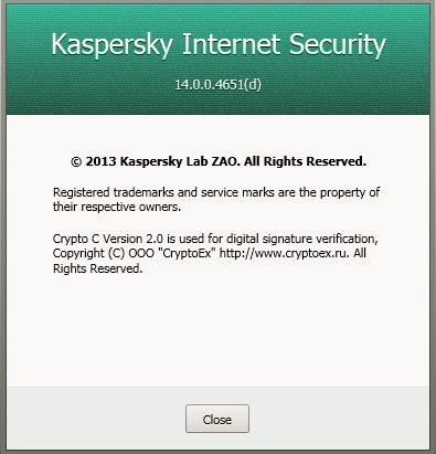 Kaspersky Internet Security License Valid Nov 27,2014