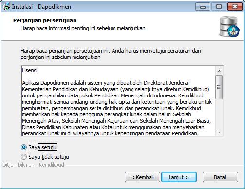 Instal Aplikasi Dapodikmen Tahap 2