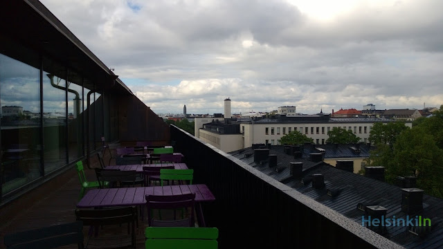 roof terrace at the University Library Helsinki