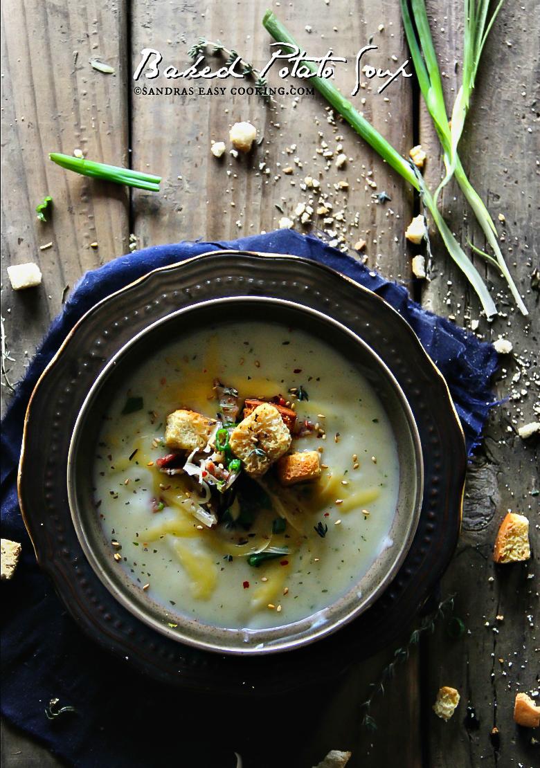 Baked Potato #Soup #recipes #homemade