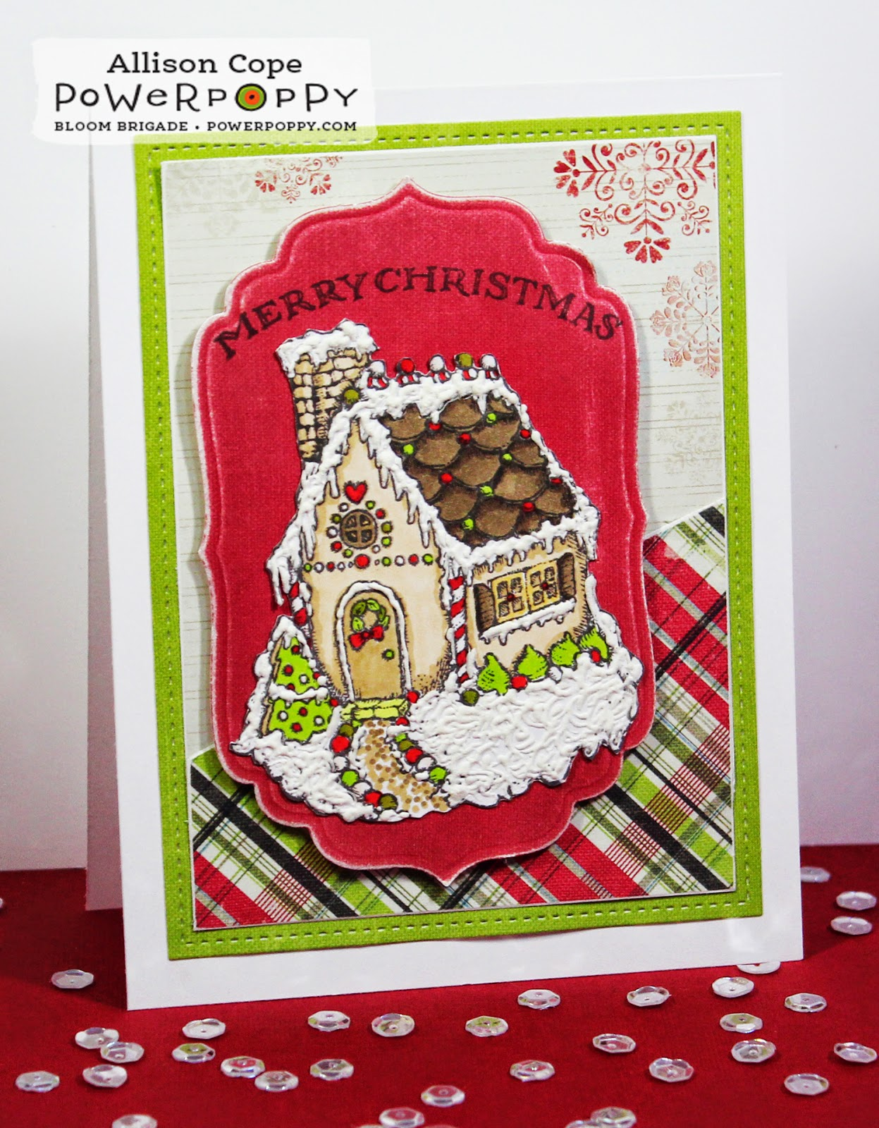 Frosted Gingerbread stamps Power Poppy