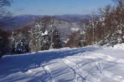 Earning turns on Pico, October 30, 2011, courtesy Ski=MC2