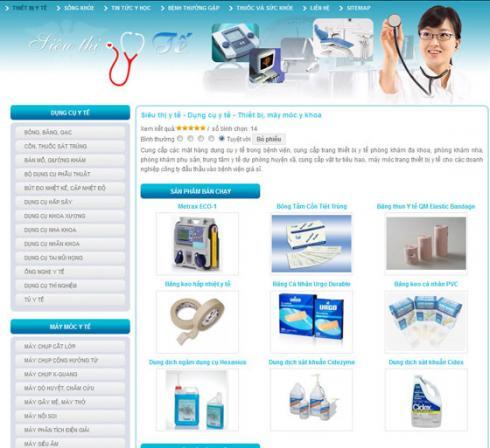 thiết kế website bệnh viện y tế
