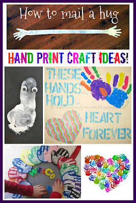 Hand print crafts Handprint art
