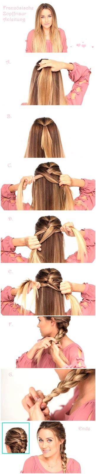 peinados faciles con trenzas francesas