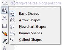 Fungsi basic shapes pada toolbox