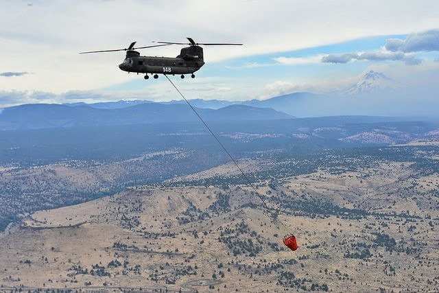 Oregon National Guard assists firefight