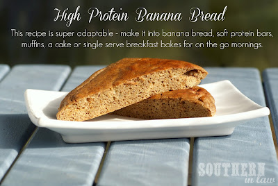 Healthy Banana Bread Protein Bars - Low Fat, Gluten Free, High Protein