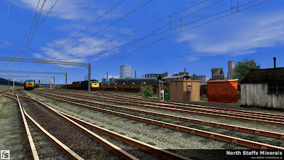 Fastline Simulation - North Staffs Minerals: The sound end exit of Etruria Yard.