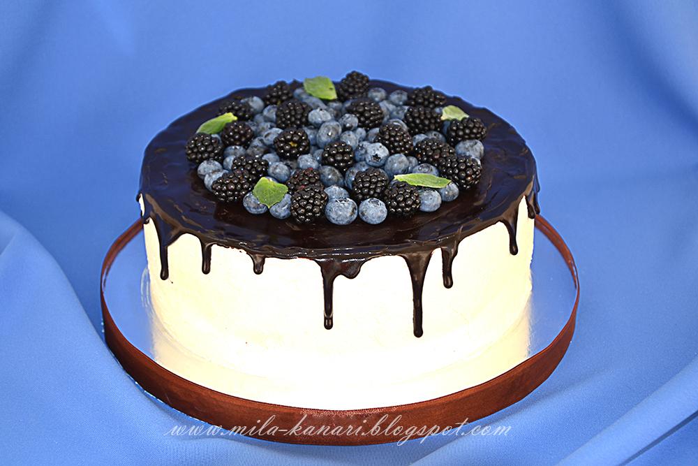 Чем залить шоколадный торт