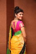 Sangeetha Kamath dazzling saree photos-thumbnail-3