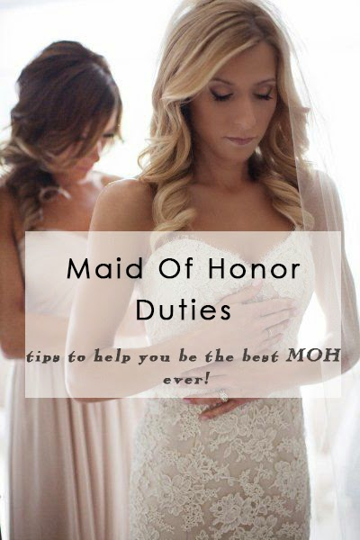 maid of honor duties before the wedding