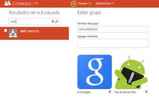 administrar grupos de contactos en Outlook