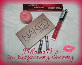 {{Closed}} My 2nd Blogiversary Giveaway