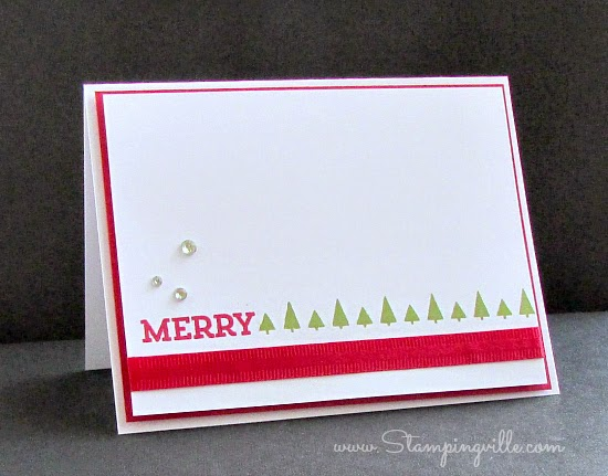 Clean & simple Christmas card | Stampingville #cardmaking #papercrafts #StampinUp
