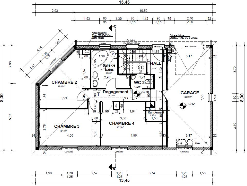 Plan maison suite parentale for Plan maison 3 chambres suite parentale