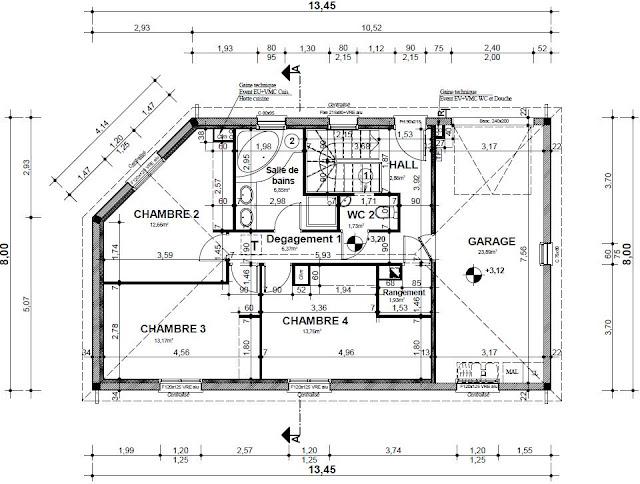 Construction de notre maison avec c lia cr ation les for Plan maison etage 4 chambres 1 bureau