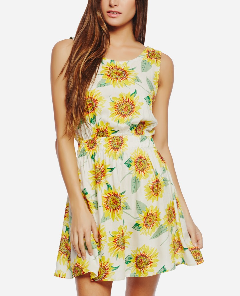 Sunflower Tie Back Dress from Wet Seal