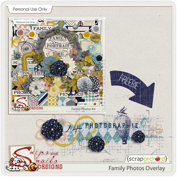 Family Photos Digital Scrapbook Overlay Freebie