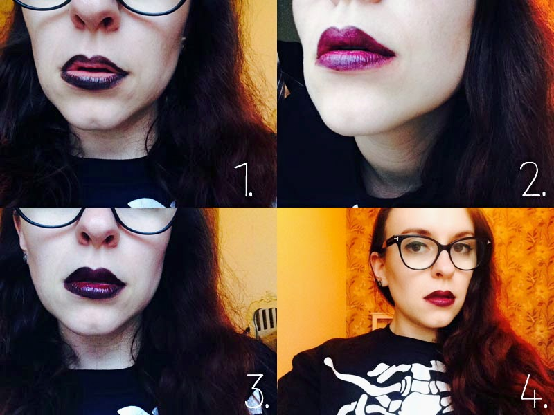 Beauty: How to do a ombre halloween lip