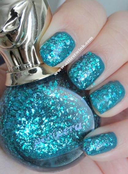 Peripera nail polish P041 - Sparkle Aqua