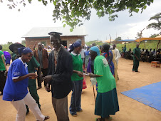 Apobo Community members dancing during ODF celebration in their village
