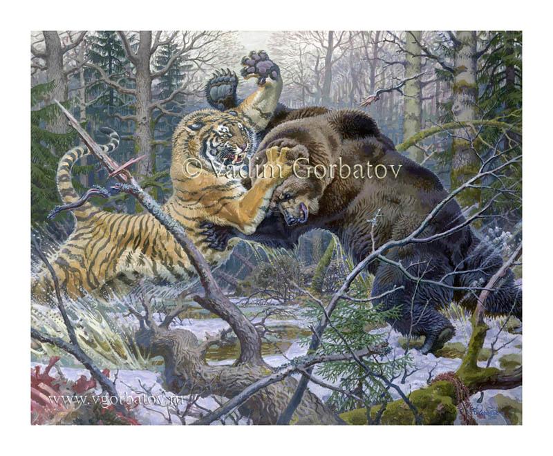рисунок медведь в берлоге спит