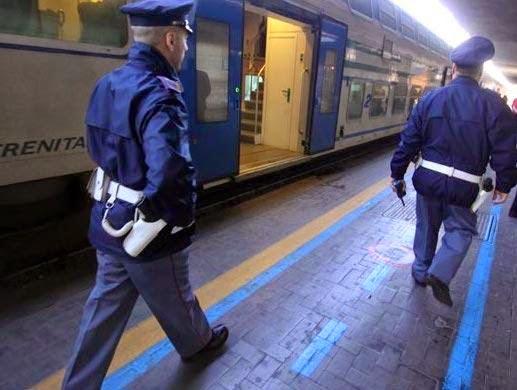 Italienische Bahnpolizei im Einsatz