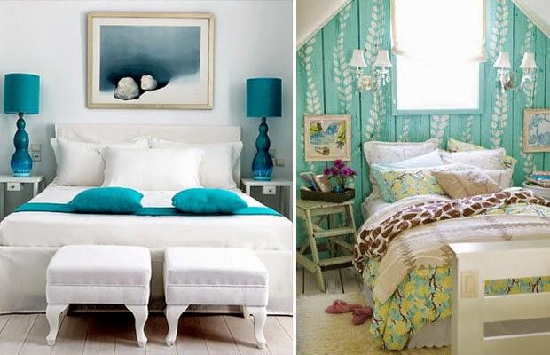 Blog da MaryLis Decoração da casa em Azul Turquesa  ~ Quarto Pintado De Azul Turquesa