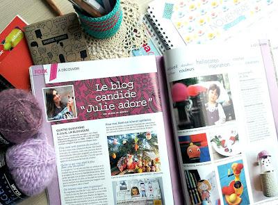 La parution presse de bloggeuse Julie Adore dans ke hors-série créatif de Prima
