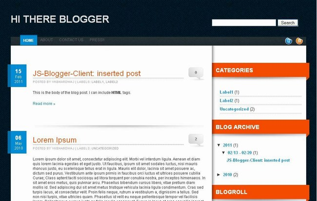 elvany blogger template