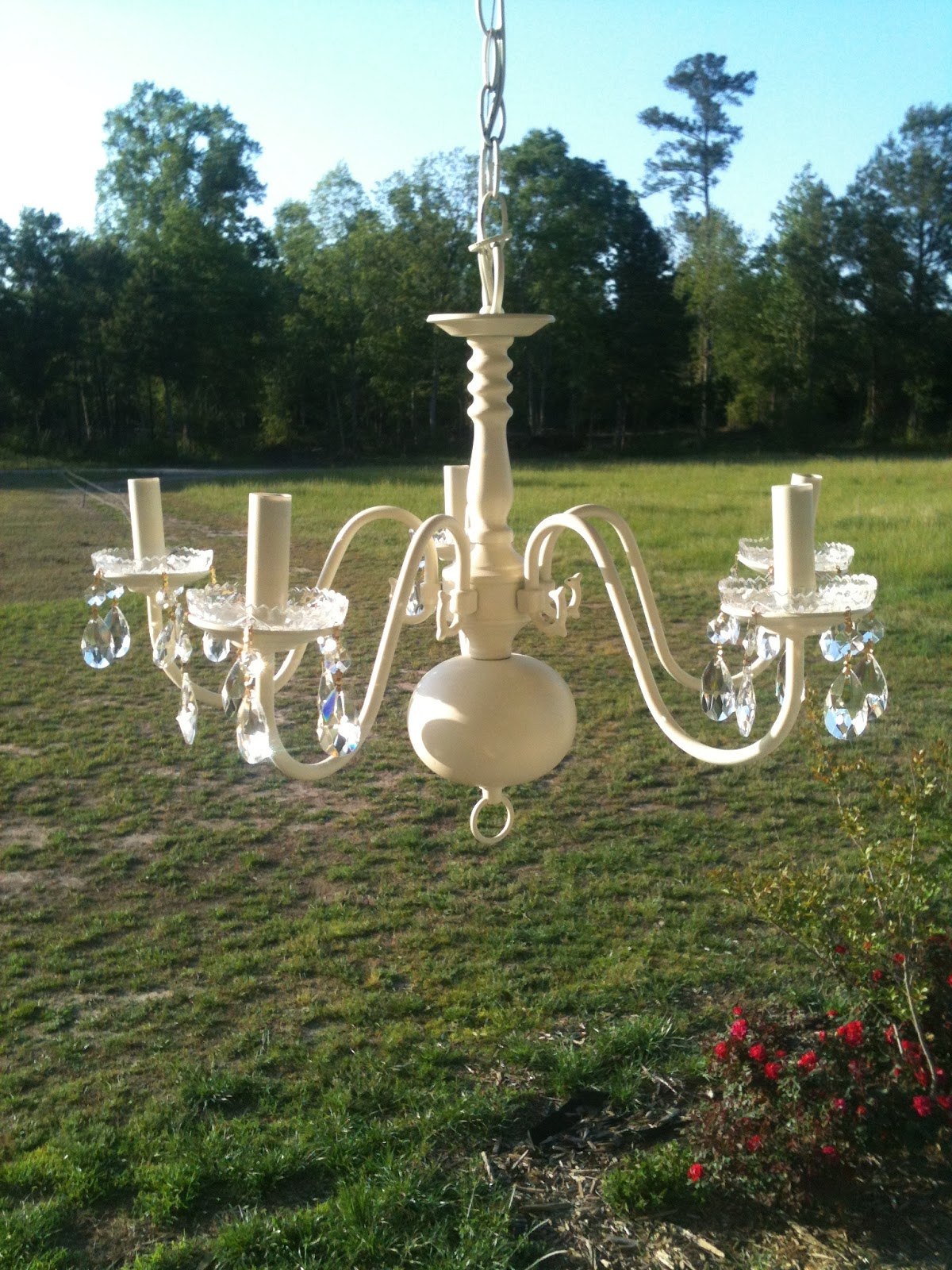 Clueless in the country make your own chandelier for Build your own chandelier