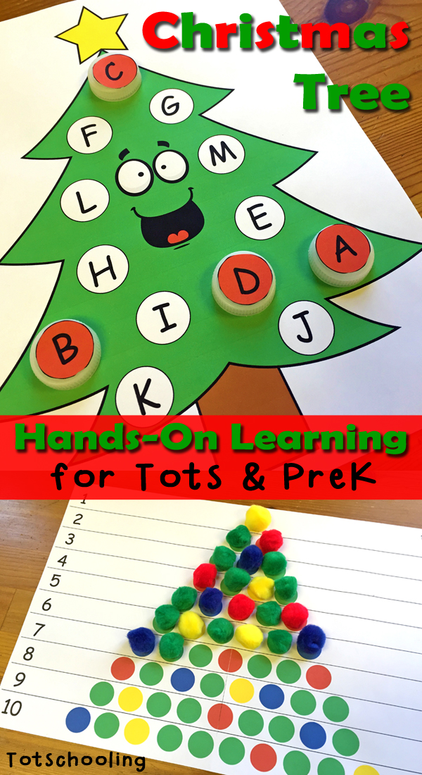 Preschool Xmas Calendar Ideas : Christmas tree learning activities for toddlers prek