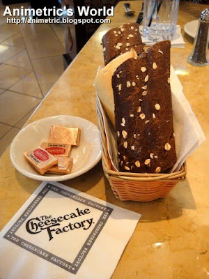Complimentary Bread at The Cheesecake Factory