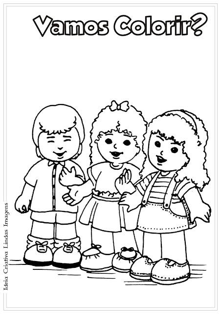 Desenho de Dia do Amigo para colorir